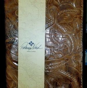 Patricia Nash metallic embossed leather journal